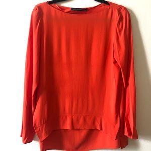 Coral blouse XS